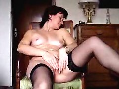 Angie 40 masturbating and cumming 3 times