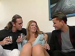 Susanne Mom fucked by two young guys