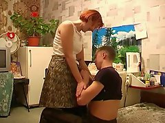 Redhead with younger man