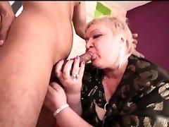 Big boobed busty milf blonde slut doctor lucia sucking
