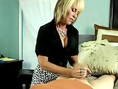 Big breasted massage therapist