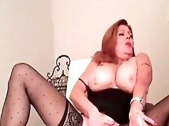 My milf exposed hot mom in stockings playing
