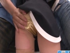 China Mimura fucked hard in public tranport
