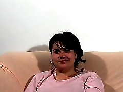 Large and lovely lady sucks cock