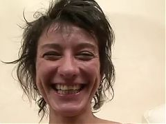 Short Haired MILF Zaza LaCoquine Interracial Threesome