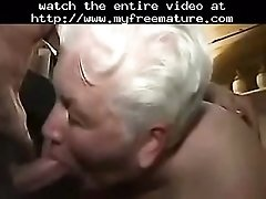 Cumming in mouth of my old maid amateur older mature m