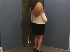 Bbw blonde striptease
