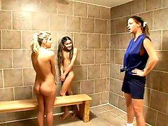 Dirty Milf Coach training Lesbian Teens