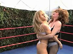 Mature Bra n Panties Wrestling