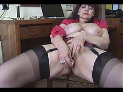 Horny big tit mature tease 3