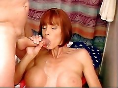 Milf Twyla gets a mouthful of cum!