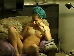 Window voyeur girl masturbates