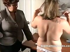 Mature School Mistress fiddles with her young pupil