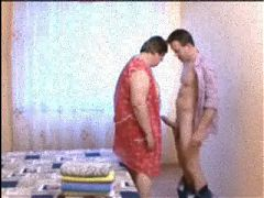 Russian sexy Mature Mom and her boy! Amateur!