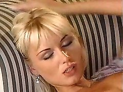 Hot blond girl fucks with her boyfriend