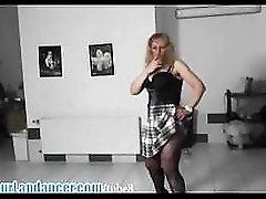 Lapdance by real czech milf