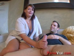 Busty brunette for an outstanding fuck french amateur