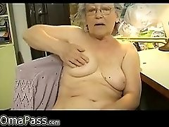Horny Old chubby Granny Masturbating wit dildo